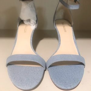 "NWT Enzo Angiolini Heels 3"" Light Blue Denim 8.5"